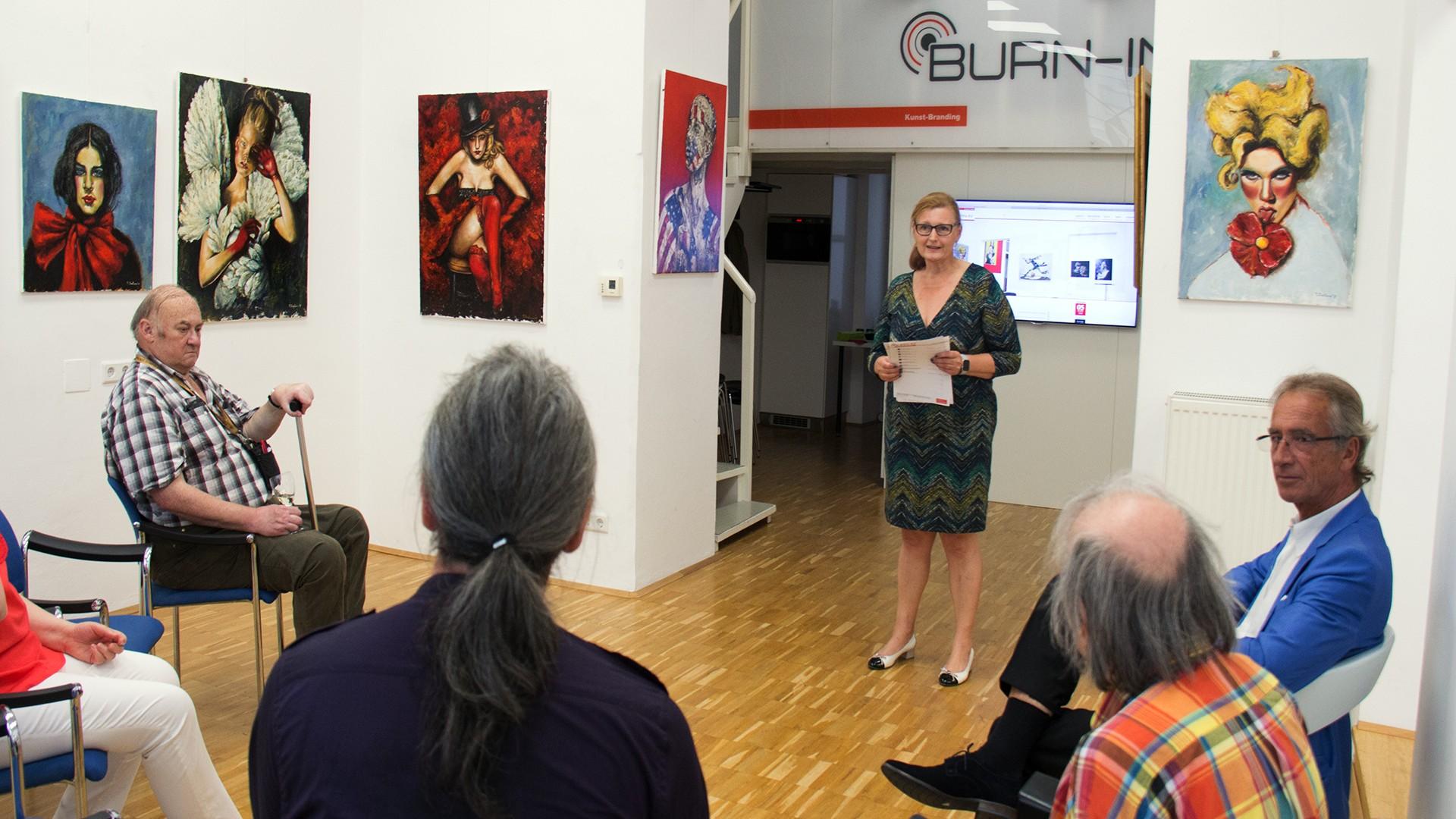 BURN-IN Vernissage Life on the run | Siedlova, Navrotskyi Juli 2018