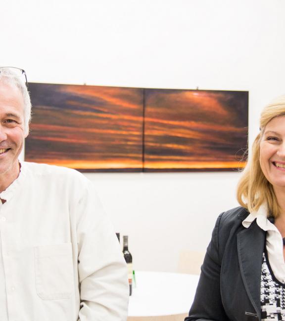 Stefan Keller, Dkfm. Sonja Dolzer   BURN-IN BUSINESS CIRCLE II   Workshop BURN-IN Kultur-Koordinaten