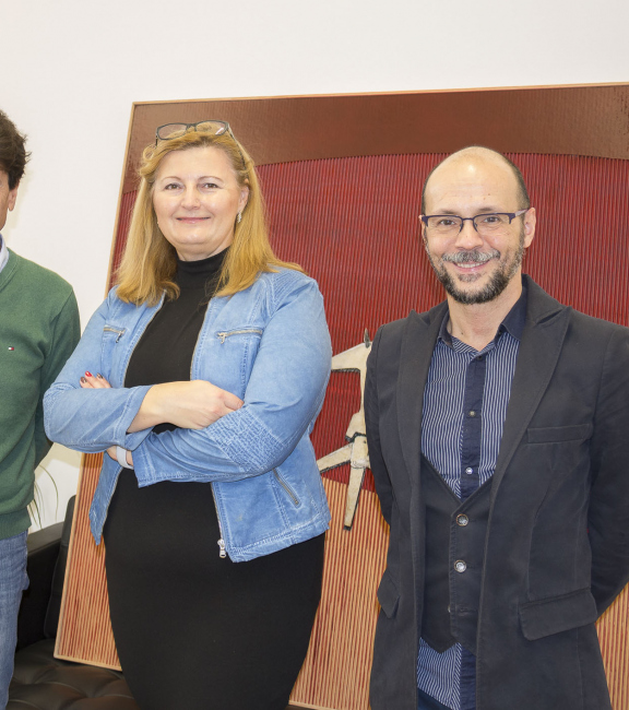 Dr. Ortega (Direktor Instituto Cervantes), Sonja Dolzer (BURN-IN Galerie), Miguel Ángel Campos Almeida (Kulturverantwortlicher Instituto Cervantes)