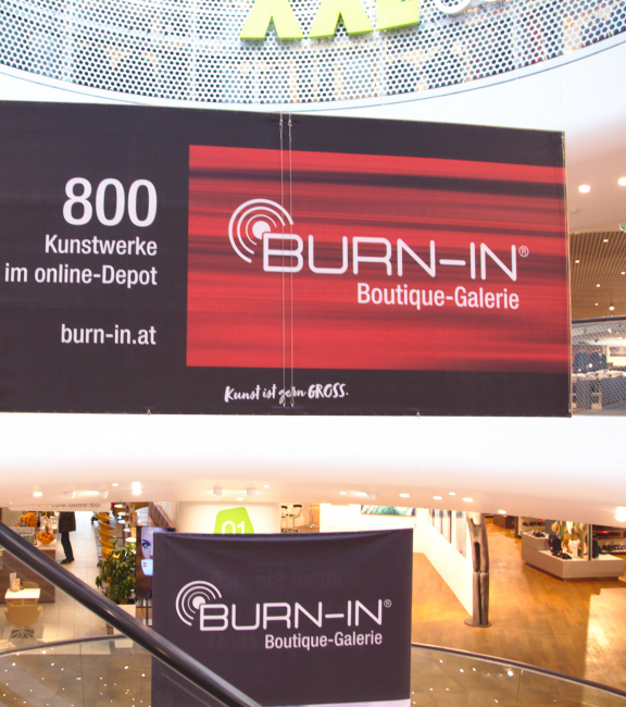 BURN-IN | Bespielung des Gerngross Atriums mit Originalkunst