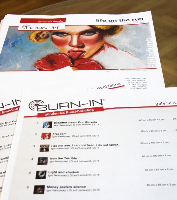 BURN-IN Galerien-Sommerfest 30.7.2018 | Ausstellung + Preisliste