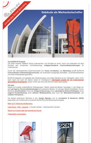 Gebäude als Markenbotschafter Newsletter