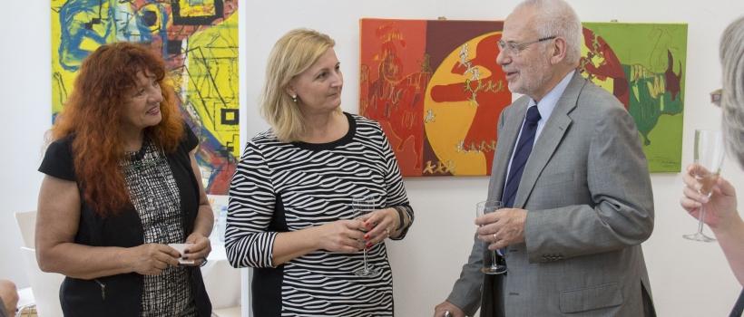 Renate Polzer, Sonja Dolzer, Dr. Erhard Busek