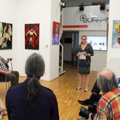BURN-IN Vernissage Life on the run | Siedlova, Navrotskyi Juli 2018